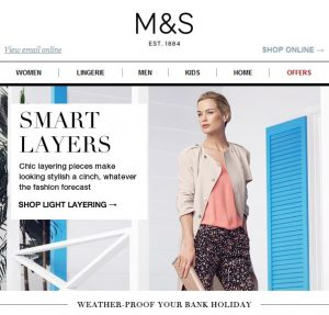 M&S Email Campaign