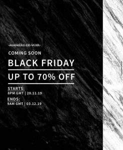 Maniere De Voir Black Friday Promotion